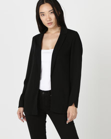 New Look Crepe Blazer Black