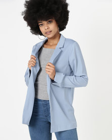 New Look Crepe Blazer Pale Blue