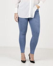 New Look Curves Super Soft Super Skinny Jeans Pale Blue