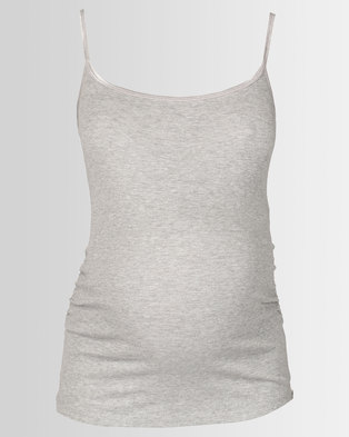 New Look Maternity Strappy Vest Grey