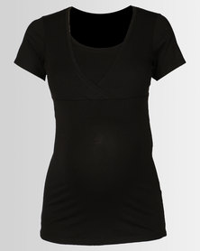 New Look Maternity Nursing T-shirt Black