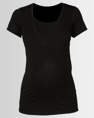 New Look Maternity Nursing T-shirt Black