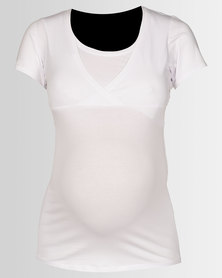 New Look Maternity Nursing T-shirt White
