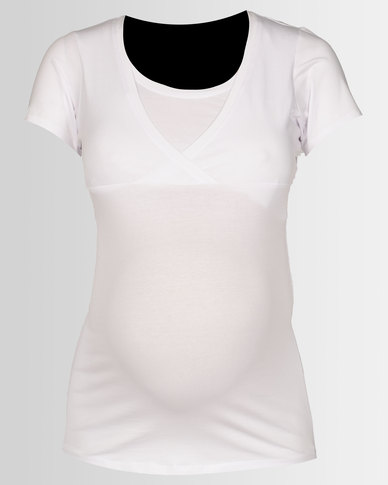 e4a6fcd8c962d New Look Maternity Nursing T-shirt White | Zando