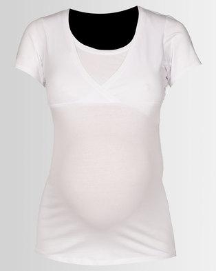 New Look Maternity Nursing T-shirt White