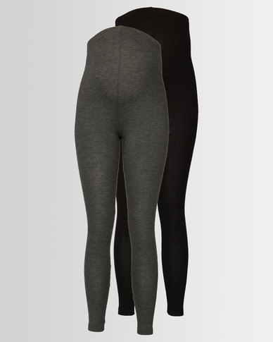 af38563a8eb7f New Look Maternity 2 Pack Over Bump Leggings Grey | Zando