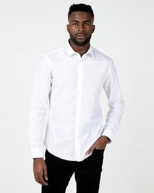 New Look Poplin Long Sleeve Shirt White