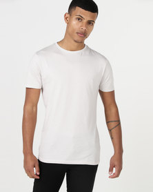 New Look Short Sleeve Muscle Fit T-Shirt Pale Grey