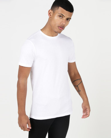 New Look Short Sleeve Muscle Fit T-Shirt White