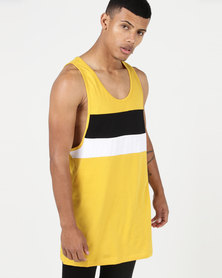 New Look Colour Block Vest Yellow