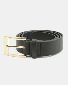 New Look Simple PU New Jeans Belt Black
