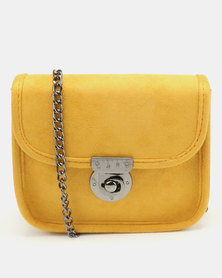 New Look Aubrey Mini Chain Shoulder Bag Dark Yellow