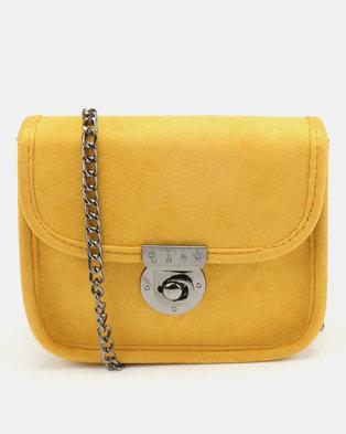 New Look Aubrey Mini Chain Shoulder Bag Dark Yellow