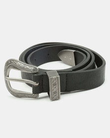 New Look Infinity Knot Western Belt Black