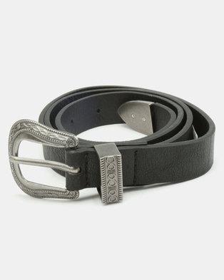 New Look Infinity Knot Western Belt Black