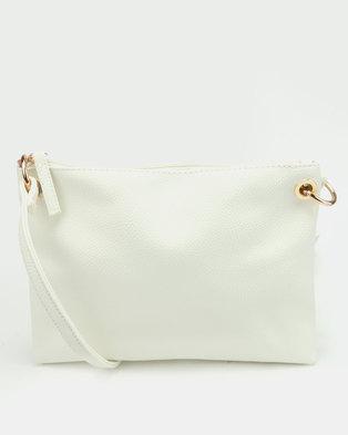 New Look Fliss Crossbody Bag White