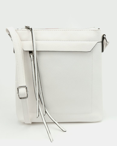 New Look Dilys Plain Crosbody Bag White