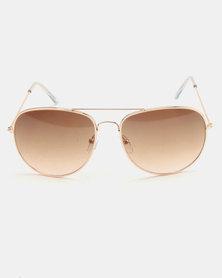 New Look LL Pilot Sunglasses Gold