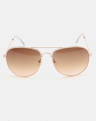 New Look LL Pilot Sunglasses Gold