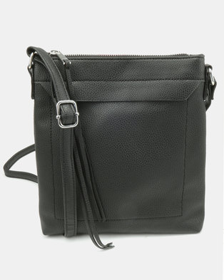 New Look LL Dilys Plain Crossbody Bag Black