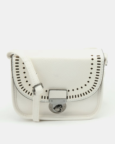 New Look Chop Out Aubrey Crossbody Bag White