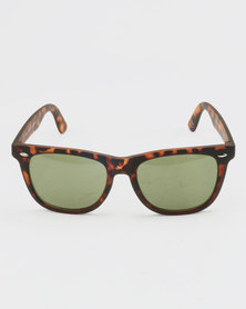 New Look Square Sunglasses Pattern Brown