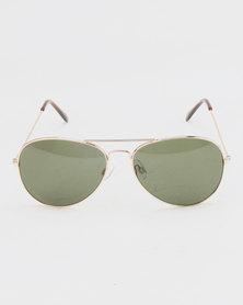 New Look Framed Aviator Sunglasses Gold-tone