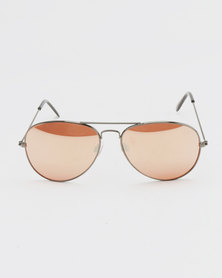 New Look Framed Aviator Sunglasses Gunmetal