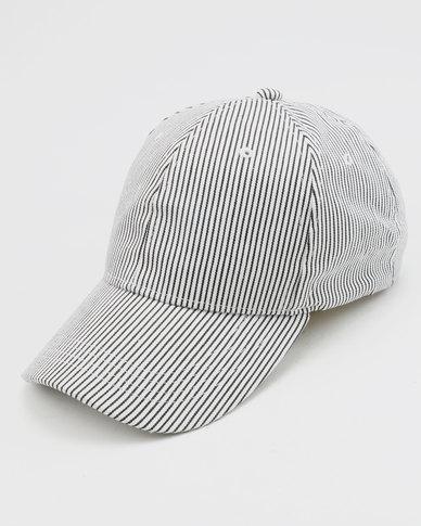 New Look Curve Peak Cap Stripe