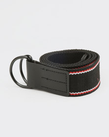 New Look Entry Woven D Ring Belt Black
