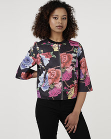 cath.nic By Queenspark Vibrant Rose Woven Jacket Multi