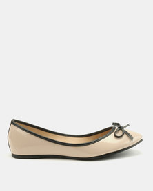 Utopia Patent Bow Pumps Nude