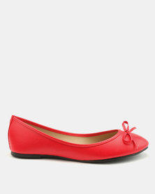Utopia Bow Pumps Red