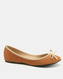 Utopia Bow Pumps Natural