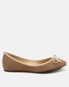 Utopia Bow Pumps Choc