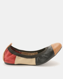 Utopia Leather Patch Stretch Pumps Multi