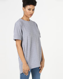 Utopia Lace Up Back Fleece Top Grey