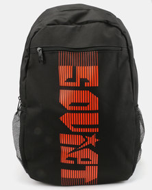 Soviet Beavers Nylon Medium Backpack Black/Orange
