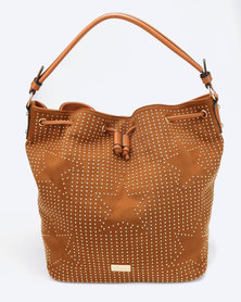 Miss Black Arrow Shoulder Bag Tan