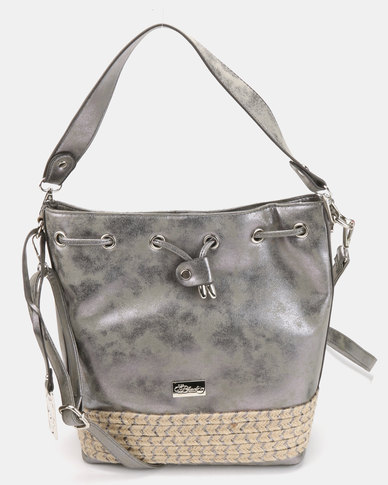 Miss Black Couture Crossbody Bag Pewter