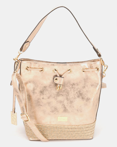 Miss Black Couture Crossbody Bag Rose Gold