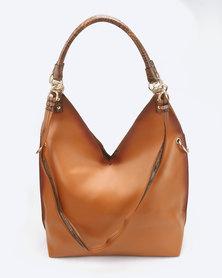Miss Black Dakota Shoulder Bag Tan