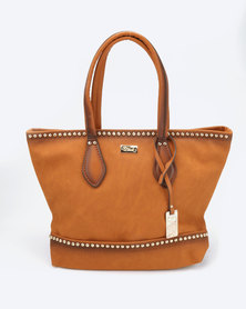 Miss Black Moschino Handbag Tan