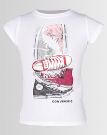 Converse CNVG Stacked Chucks Tee White