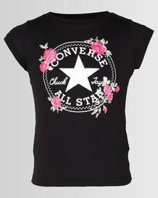 Converse CNVG Chuck Patch Roses Tee Black