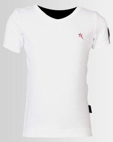 Soviet Bolt Boys Short Sleeve Muscle Tee White