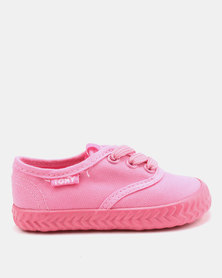Tomy Takkies Infants Original Lace Up Sneakers Pink