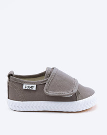 Tomy Takkies Infants Adhesive Strap Sneakers Grey