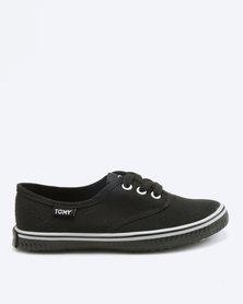 Tomy Takkies Boys Tomy With Grey Foxing Stripe Sneakers Black