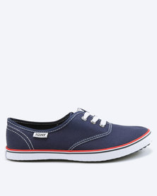 Tomy Takkies Youths Tomy With Red & Navy Foxing Stripe Sneakers Navy
